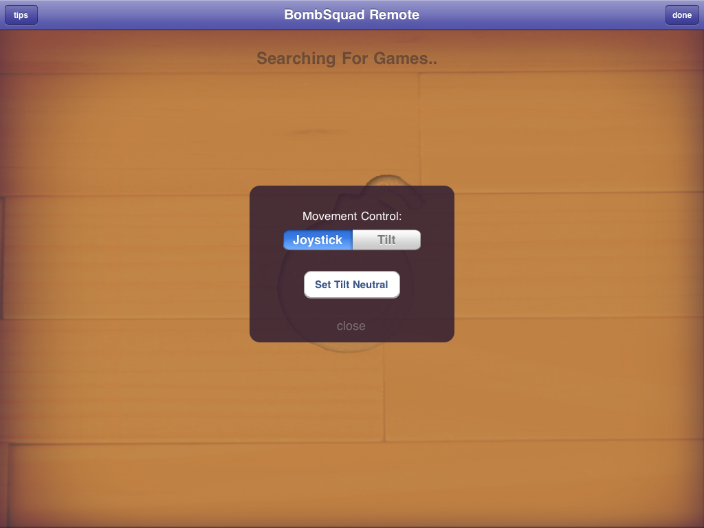 BombSquad Remote on iPad