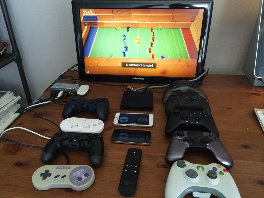 12 controllers with a fireTV